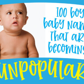 100 boy baby names that are fast becoming unpopular