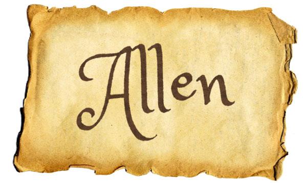 Classic boy baby names: Allen