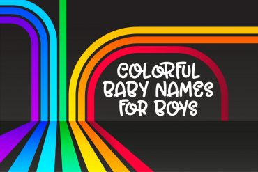 Colorful baby names for boys - rainbow
