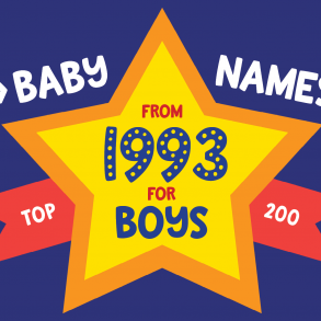 200 most popular baby names for boys born in 1993