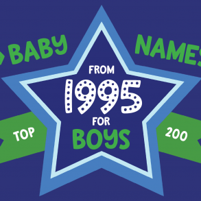 200 most popular baby names for boys born in 1995
