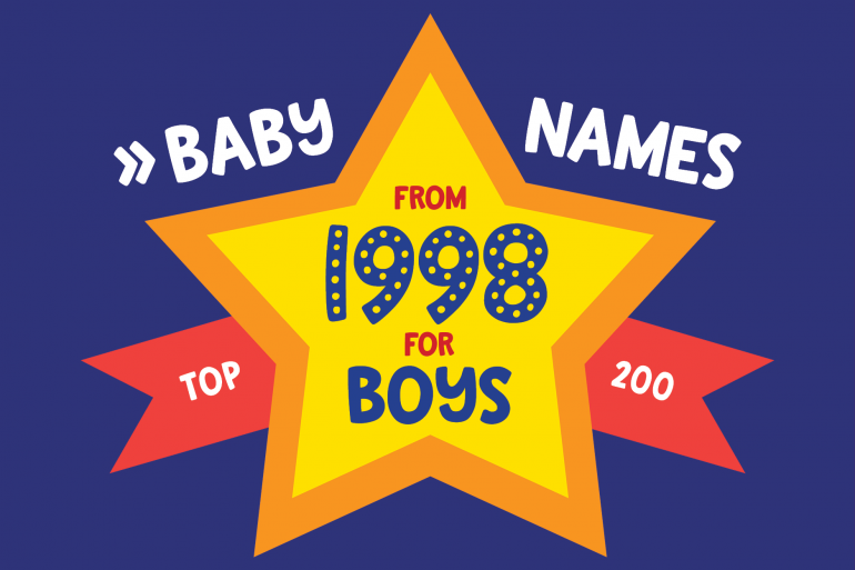 Baby names for boys from 1998