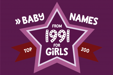 Baby names for girls from 1991