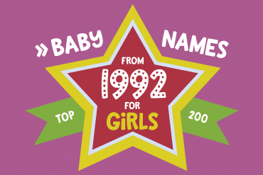 Baby names for girls from 1992