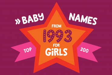 Baby names for girls from 1993