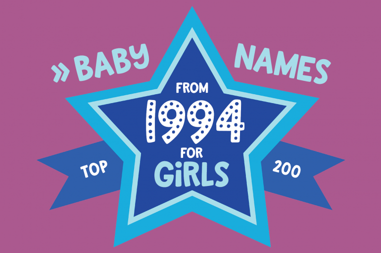 200 most popular baby names for girls born in 1994