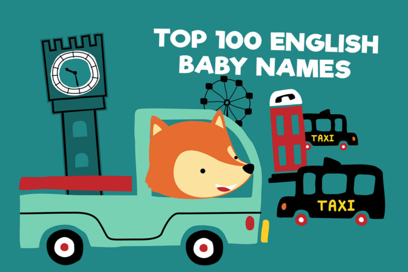 Most popular baby names from England
