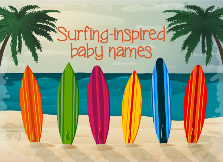 Surfing-inspired baby names