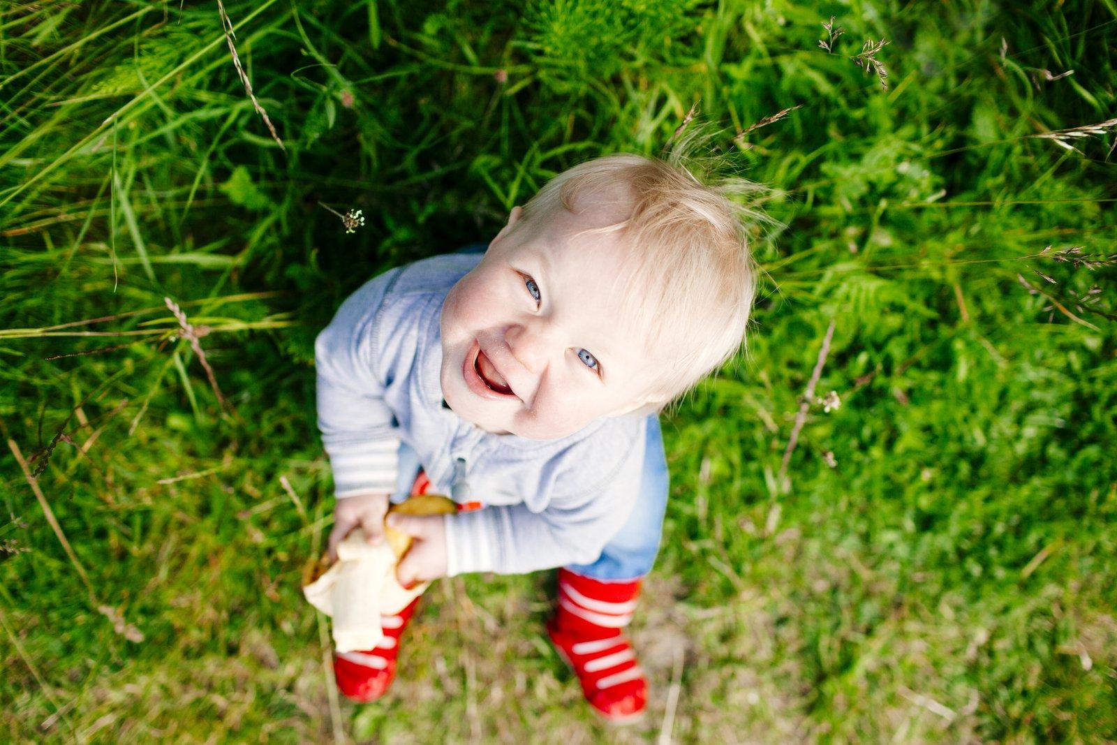 Baby on grass - Swedish boy names