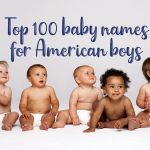 Top 100 baby names for American boys
