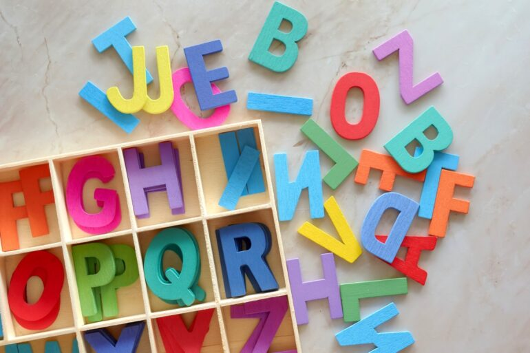 Toy alphabet letters to make baby names