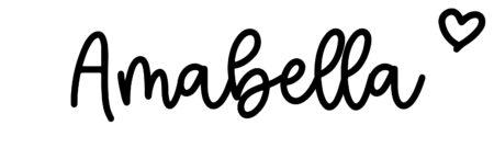 About the baby nameAmabella, at Click Baby Names.com