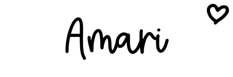 About the baby nameAmari, at Click Baby Names.com