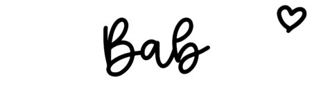About the baby nameBab, at Click Baby Names.com