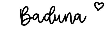 About the baby nameBaduna, at Click Baby Names.com