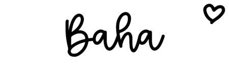 About the baby nameBaha, at Click Baby Names.com