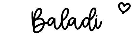 About the baby nameBaladi, at Click Baby Names.com