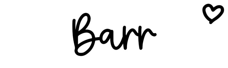 About the baby nameBarr, at Click Baby Names.com