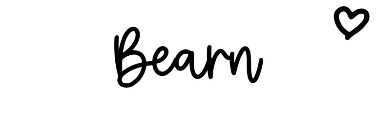 About the baby nameBearn, at Click Baby Names.com