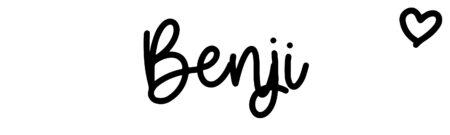 About the baby nameBenji, at Click Baby Names.com