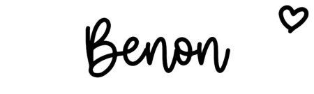 About the baby nameBenon, at Click Baby Names.com