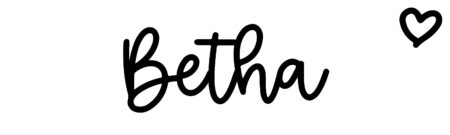 About the baby name Betha, at Click Baby Names.com