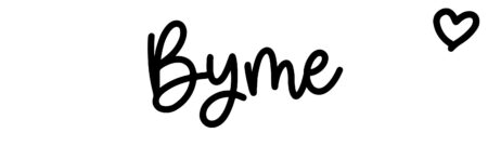 About the baby name Byme, at Click Baby Names.com