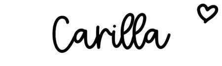 About the baby nameCarilla, at Click Baby Names.com