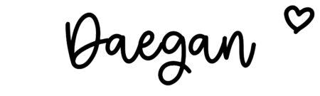About the baby nameDaegan, at Click Baby Names.com