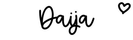 About the baby nameDaija, at Click Baby Names.com