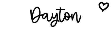 About the baby nameDayton, at Click Baby Names.com