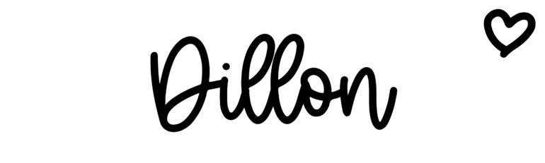 About the baby nameDillon, at Click Baby Names.com