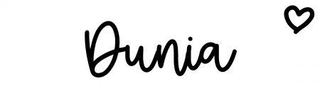 About the baby nameDunia, at Click Baby Names.com