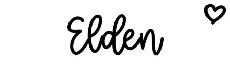 About the baby nameElden, at Click Baby Names.com