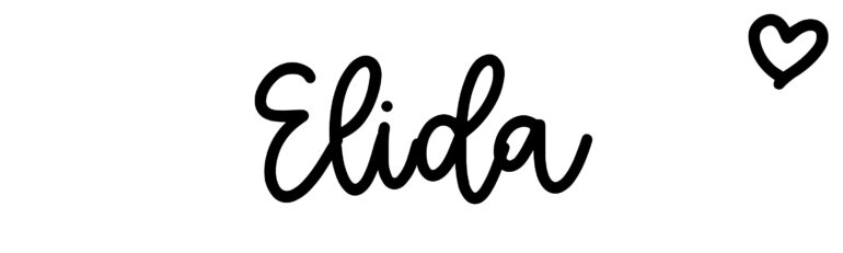 About the baby nameElida, at Click Baby Names.com