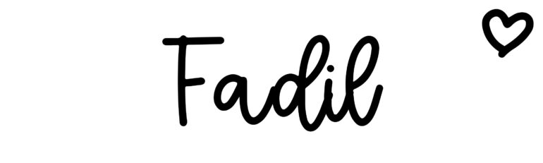 About the baby nameFadil, at Click Baby Names.com