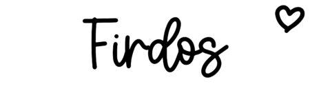 About the baby nameFirdos, at Click Baby Names.com