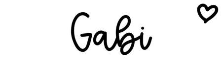 About the baby nameGabi, at Click Baby Names.com