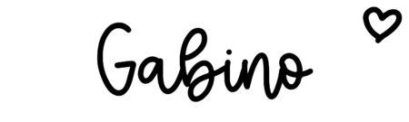About the baby nameGabino, at Click Baby Names.com