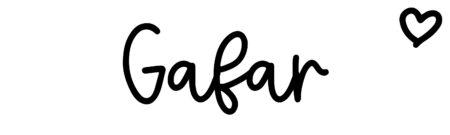 About the baby nameGafar, at Click Baby Names.com