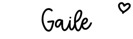 About the baby name Gaile, at Click Baby Names.com