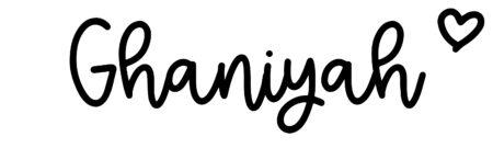 About the baby nameGhaniyah, at Click Baby Names.com