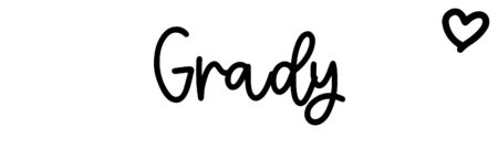 About the baby nameGrady, at Click Baby Names.com