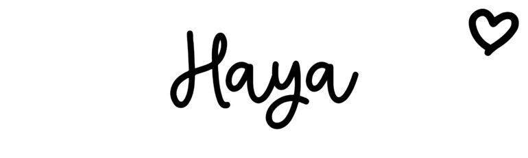 About the baby nameHaya, at Click Baby Names.com
