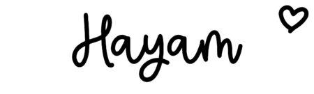 About the baby nameHayam, at Click Baby Names.com