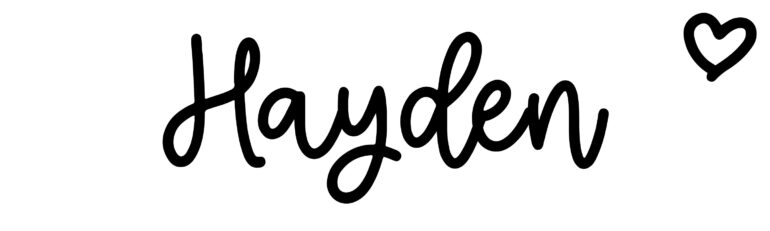 About the baby nameHayden, at Click Baby Names.com