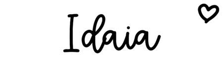 About the baby nameIdaia, at Click Baby Names.com