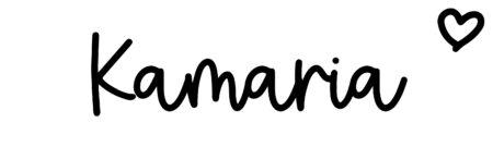 About the baby nameKamaria, at Click Baby Names.com