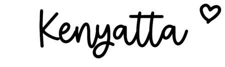 About the baby nameKenyatta, at Click Baby Names.com