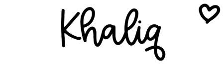 About the baby nameKhaliq, at Click Baby Names.com